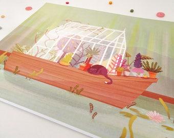 "House Boat Print -8""x10""-"