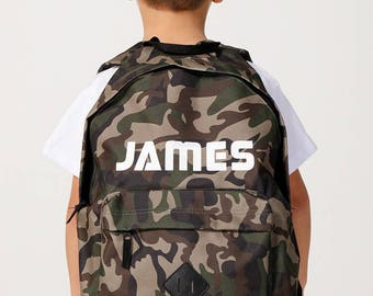 Personalised Camouflage Backpack