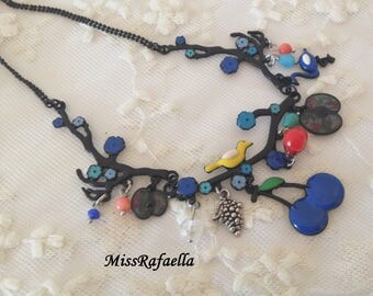 Blue Fruit necklace.