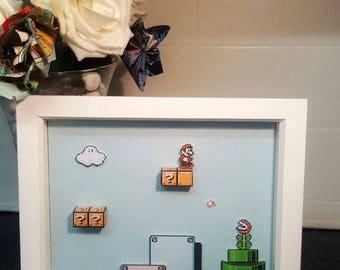 Mario Bros 2 3D Shadow Box Diorama (8x8)