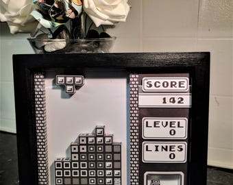 Tetris 3D Shadow Box Diorama (8x8)