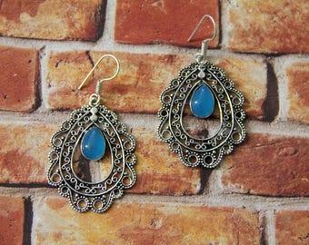 Oval Mandala Earrings