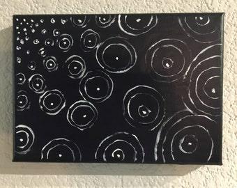 Concentrics- Acrylic on 5x7 Canvas