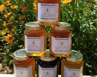 Honey Variety Sampler Pack in 6 oz. Jars
