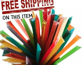 100 Honey Sticks You Pick! 100 total straws in packs of 10 so pick 10 choices! Free Shipping - You pick your choices.