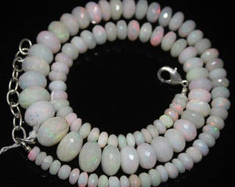 """Welo Fire Ethiopian Opal Micro Faceted Rondelle Gemstone Craft Beads Strand 12"""" 138.3ct#34"""
