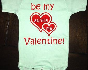 Valentine's Day Green Onesie | Be My Valentine | Funny Baby Onesie | Baby Bodysuit | Baby Clothing | Baby Girl Onesie