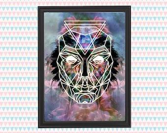 Mystic Mask Art Print