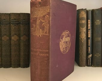 1869 Robinson Crusoe-Published by John Camden Hotten - First Edition! Rare!