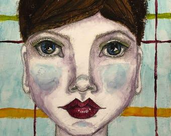 "Alchemy Soul Arts ""Just a Housewife..."" 8.5""x11"" Mixed Media Portrait Art Print"