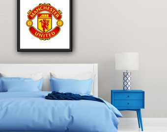 Manchester United Badge/Logo Poster Print | A4 | Free UK Delivery