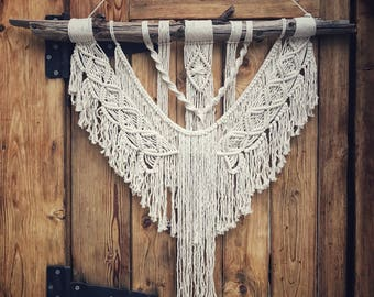 "Angel's Wings 36"" Macrame Wall Hanging"