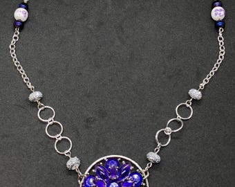 Ultraviolet Purple Flower Necklace