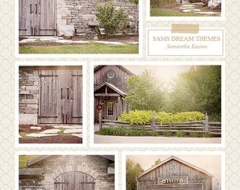 Barn Digital backdrop, 6, digital background, House backdrop, House background, Garden background, Garden backdrop
