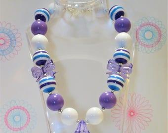 Girls Chunky Bubblegum Necklace, Little Girls Necklace, Bubblegum Necklace, Toddler Jewelry, Chunky Bead Necklace, Girls Jewelry