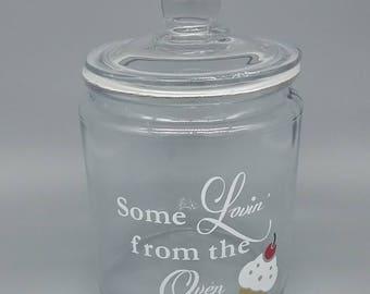 Glass Cookie Jar