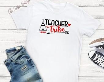 Teacher Tribe Shirt, Teacher shirt, school shirt, classroom, teacher gift, teaching my tribe, school spirit, school pride, teaching shirt