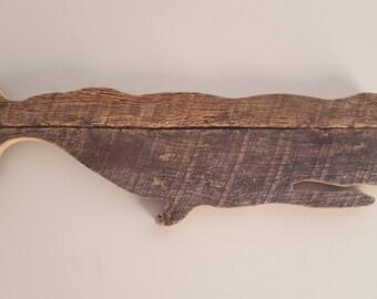 Reclaimed Wood Whale - Wall Decor