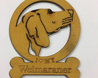 Weimaraner Dog Ornament