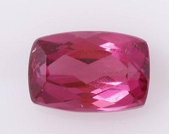 1.27 ct Cushion Cut Rubelite, Natural Rubelite, Cushion Rubelite, Pink Tourmaline, Red Tourmaline, Loose Gemstone, Natural Tourmaline, Gem