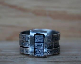 Cryptex Ring. Secret code ring.