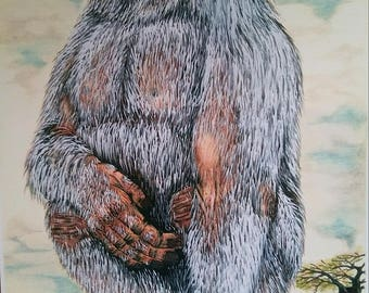 Sasquatch Drawing titled - The 'Ancient' One