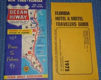 Vintage Florida Memorabilia,Vintage Florida Postcards,Vintage Florida Souvenirs,Vintage Road Map,Vintage Daytona Beach Postcard,Vintage Fla