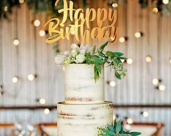 Happy Birthday Cake Topper, Happy Birthday Cake, Happy Birthday Gift, Birthday Cake Topper, Birthday Topper, Birthday Party, Birthday Decor