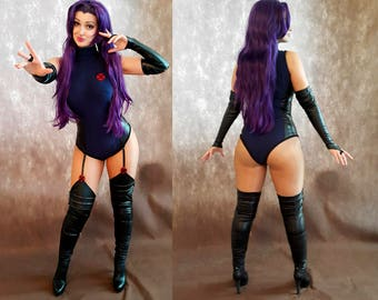 Psylocke costume + wig cosplay