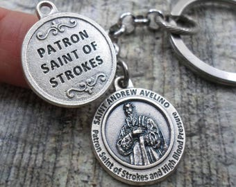 Stroke patient etsy patron saint of strokes and high blood pressure st andrew avelino get well negle Choice Image