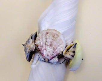 Seashell napkin rings set of 4