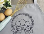 Love Our Nest Bib Apron -...