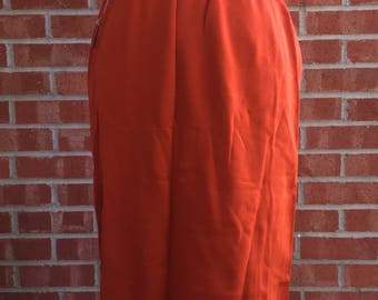 Vintage 70s burnt orange skirt with elastic waist
