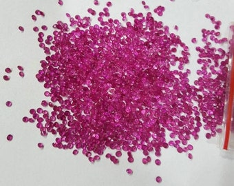 2 mm Natural Ruby Round Faceted -Top Quality Ruby Faceted Gemstones