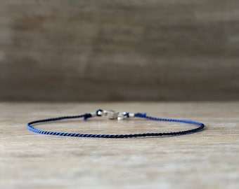 Bracelet Men Silver Gift for Men Gift for Him Silk Bracelet Thin Bracelet Mens Gift anniversary Gift Mens Bracelet Slim Bracelet Minimal