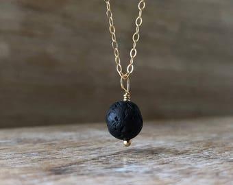 Lava Bead Diffuser Necklace, Lava Stone Necklace, Aromatherapy Necklace, Lava Rock Necklace, Lava Oil Diffuser Necklace, Essential Oil Gift