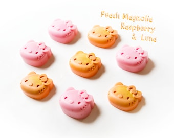 Peach Magnolia Raspberry Wax Melts | Luna | Wax Melts (6.9 Oz.) - Hand Poured Wax - Wax Melts - Wax Tarts - Hello Kitty - Hello Kitty Wax