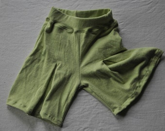Girls Organic Culottes with front Pleat Eco friendly Hemp/Organic Cotton blend