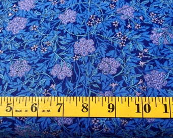 Moda Morris Jewels Blue Lilac Barbara Brackmen 8141 31 Cotton Fabric By the Yard