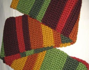 Crocheted Multi-Colored Scarf