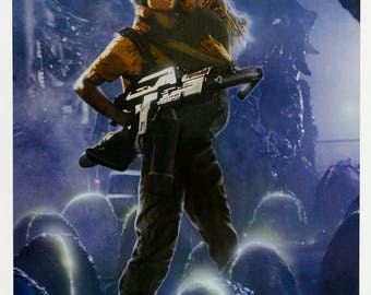 Aliens  movie poster A4 size