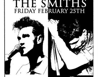 The Smiths and Joy Division concert poster