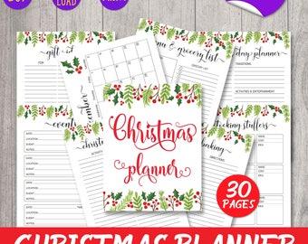 Christmas Planner, Holiday Planner, Christmas Organizer, Gift planner, Christmas Planner Kit, Christmas Planner A5, Christmas Printables