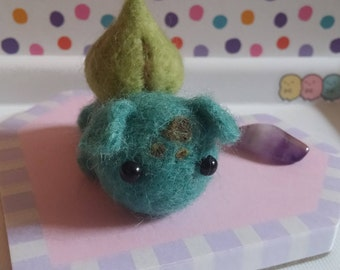 Miniature Needle Felt Bulbasaur