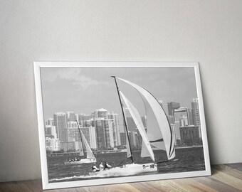 Sailing Photography, Extra Large Canvas, Sailing Cup Photography, Sailing Art Prints, Sailboat Prints, Sailboat Art, Bacardi Cup