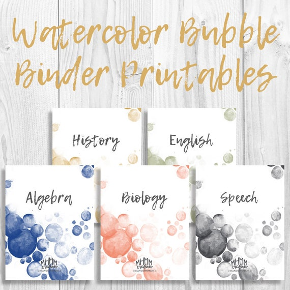Set Of 5 Printable Binder Cover/Inserts W/ Spines Free Font