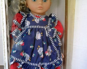 "Lissi Doll Batz Germany NRFB 18"" Doll Blonde Hair Blue Eyes"