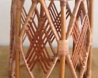 Vintage Rattan Stool With FREE UK Delivery