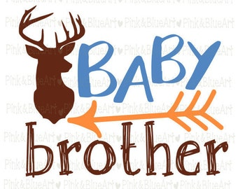 Baby brother SVG Clipart Cut Files Silhouette Cameo Svg for Cricut and Vinyl File cutting Digital cuts file DXF Png Pdf Eps