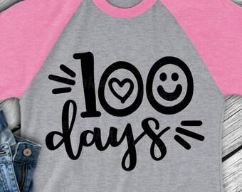 100 days of school svg - 100 days svg - 100th day of school - School svg - Teacher svg - Slayed svg- Digital download- SVG- DXF- eps,pdf,png